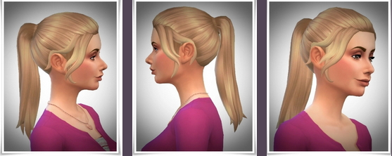 Birksches sims blog: Sookies Ponytail for Sims 4