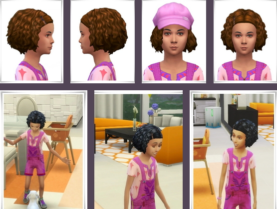 Birksches sims blog: Little Marina Curls hair for Sims 4