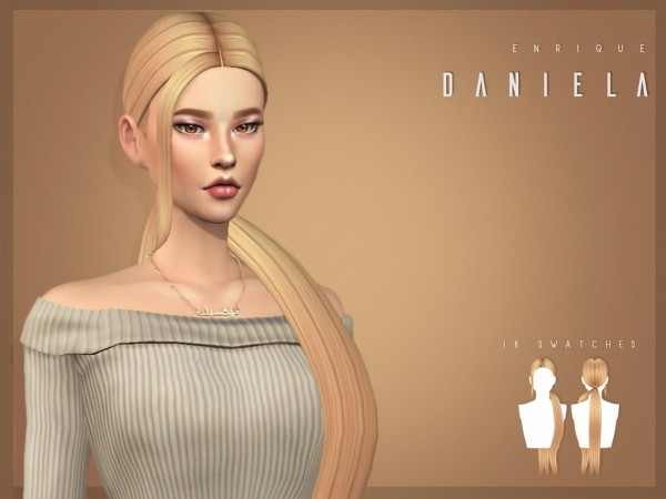 Enrique: Daniela Hair for Sims 4