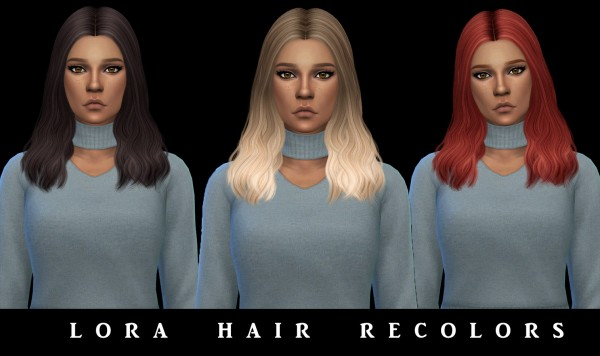 Leo 4 Sims: Lora Hair recolored for Sims 4