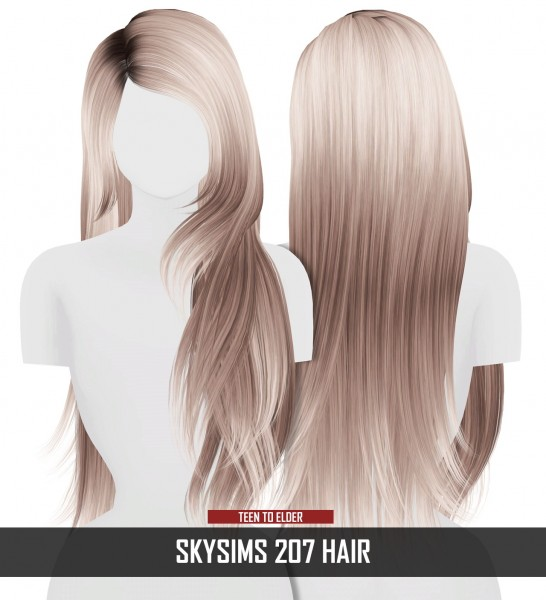 Coupure Electrique: Skysims 207 hair retextured for Sims 4