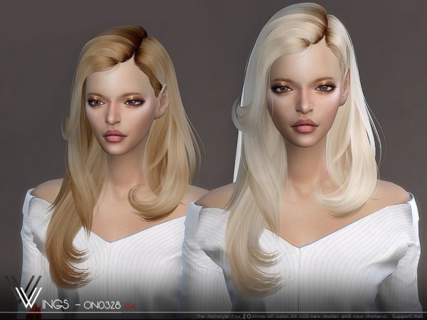 The Sims Resource: WINGS ON0328 hair for Sims 4