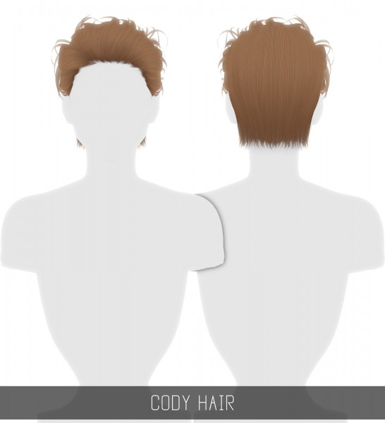 Simpliciaty: Cody Hair for Sims 4