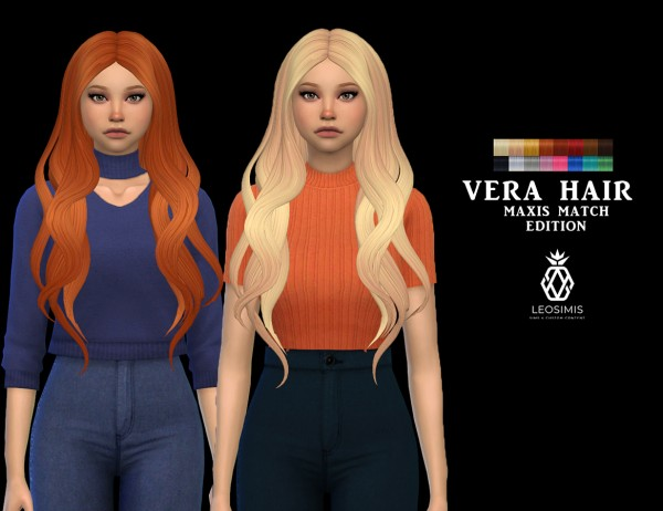 Leo 4 Sims: Vera Hair MM for Sims 4