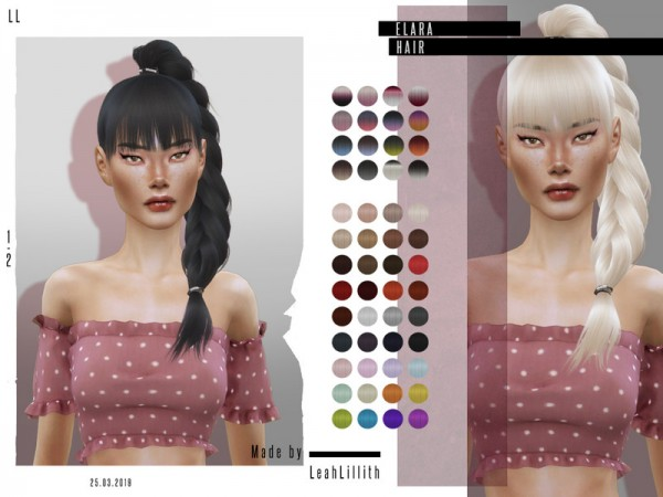The Sims Resource: Elara Hair by Leah Lillith for Sims 4