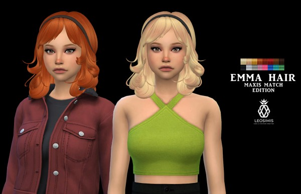 Leo 4 Sims: Emma Hair for Sims 4