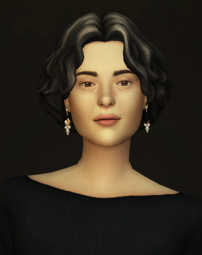Rusty Nail: Curly mid hair edit V1 for Sims 4