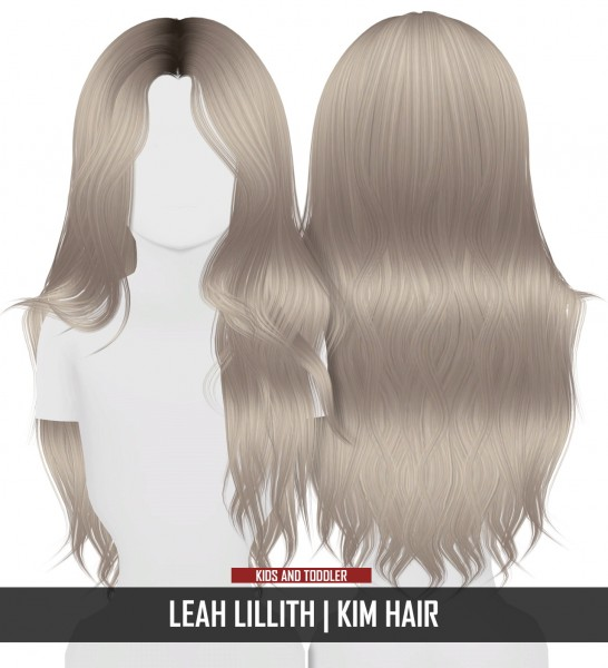 Coupure Electrique: LeahLillith`s Kim hair retextured   kids and toddlers version for Sims 4