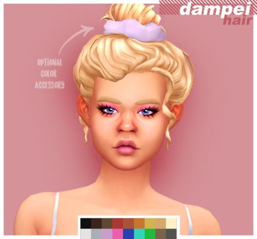 Cowconuts: Dampei hair retextured for Sims 4