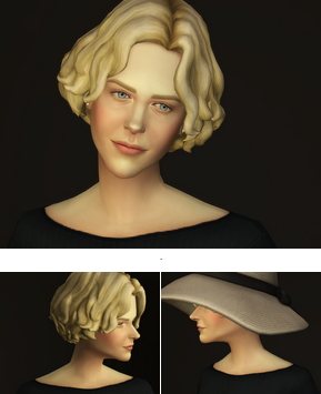 Rusty Nail: Curly mid hair edit V2 for Sims 4