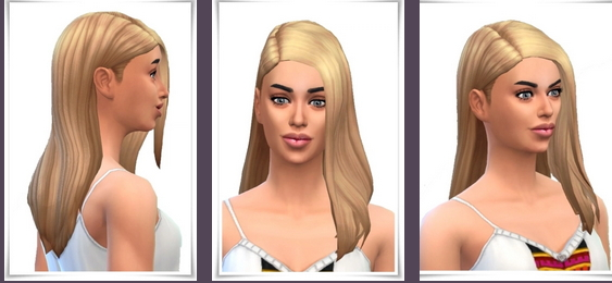 Birksches sims blog: Full Side Part Straight Hair for Sims 4