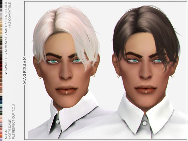 The Sims Resource: Notre Dame Hair by magpiesan for Sims 4