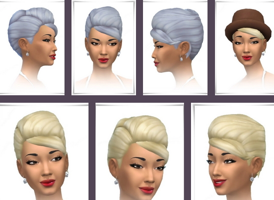 Birksches sims blog: UpDo Twist Side Bangs Hair for Sims 4