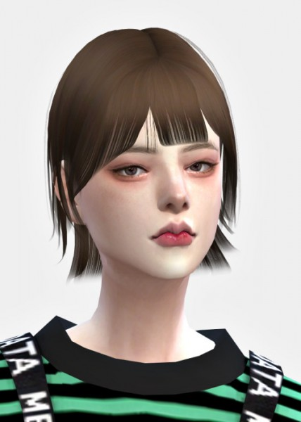 Lemon: Hush cut hair for Sims 4