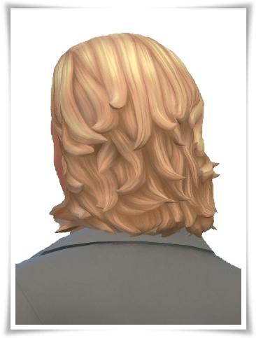 Birksches sims blog: Slick Back Half Long for Sims 4