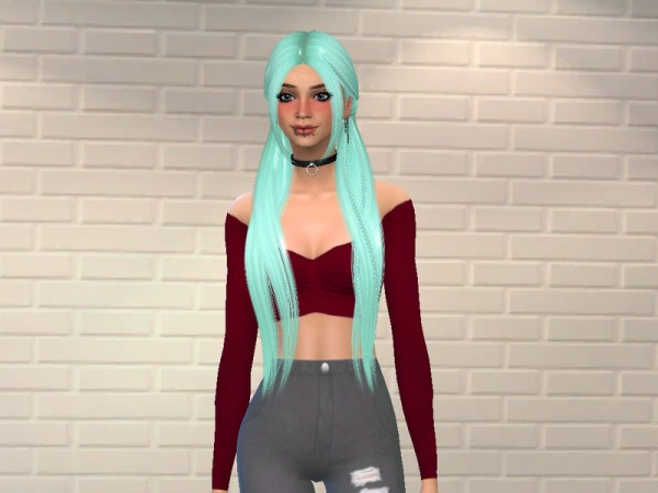 The Sims Resource: Nightcrawler`s Latte Hair Recoloured by AlfieLasims for Sims 4
