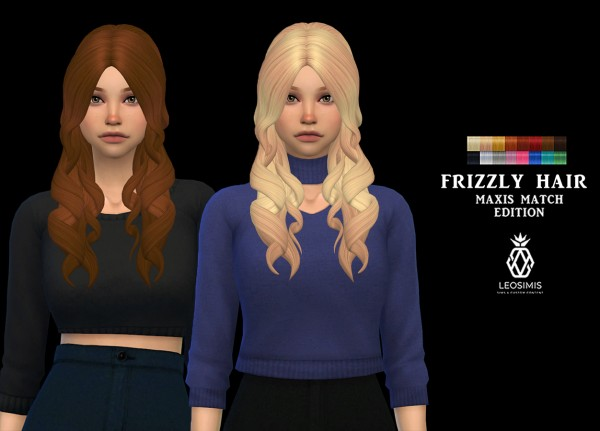 Leo 4 Sims: Frizzly Hair for Sims 4