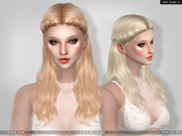 The Sims Resource: Ephemeral Hair 83 by TsminhSims for Sims 4