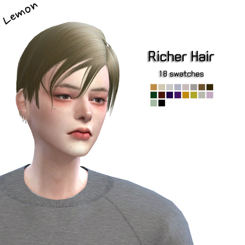 Lemon: My First Hair for Sims 4