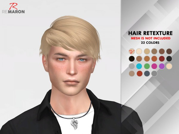 The Sims Resource: Atlas Hair Retextured by remaron for Sims 4