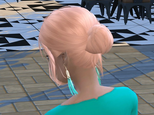 The Sims Resource: Stealthic`s Envy Hair Recolored by neinahpets for Sims 4
