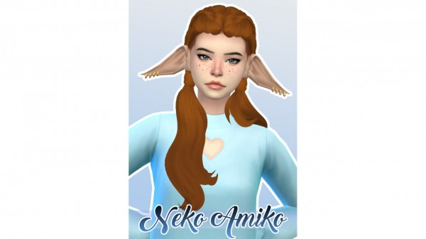Neko Amiko: WINGS OE0805 hair clayfied retextured for Sims 4