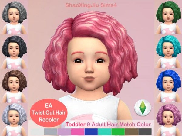 The Sims Resource: Twist Out Hair Recolored by jeisse197 for Sims 4