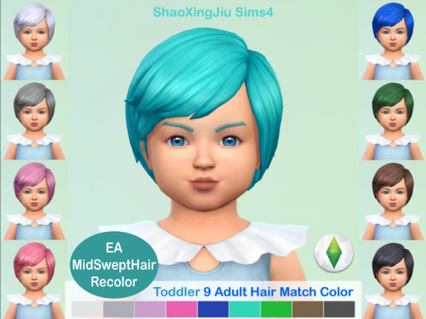 The Sims Resource: Swept Hair Recolored by jeisse197 for Sims 4
