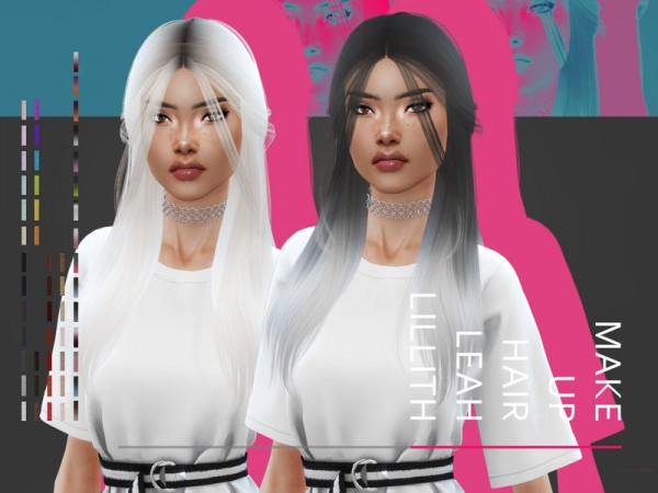 The Sims Resource: Make Up Hair by Leah Lillith for Sims 4