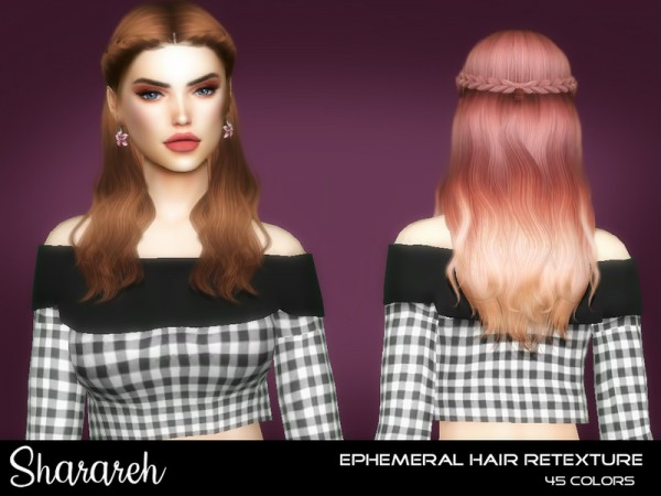 The Sims Resource: Ephemeral Hair Retextured by Sharareh for Sims 4