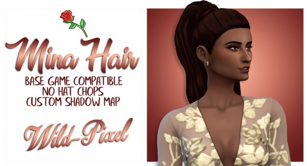 In My Dreams: Mina Hair for Sims 4