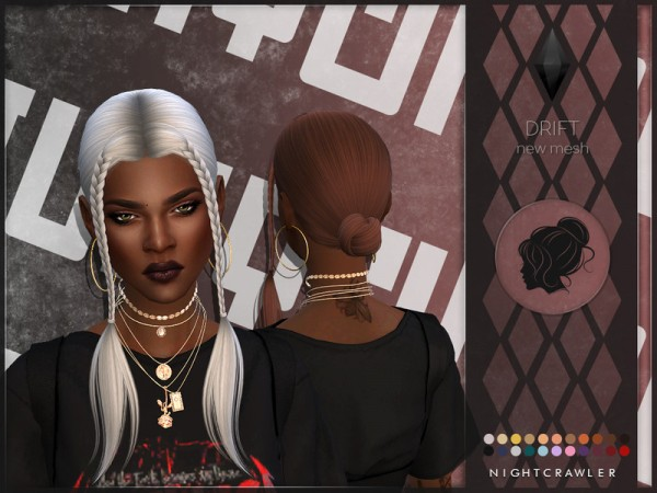 The Sims Resource: Drift Hair by Nightcrawler Sims for Sims 4
