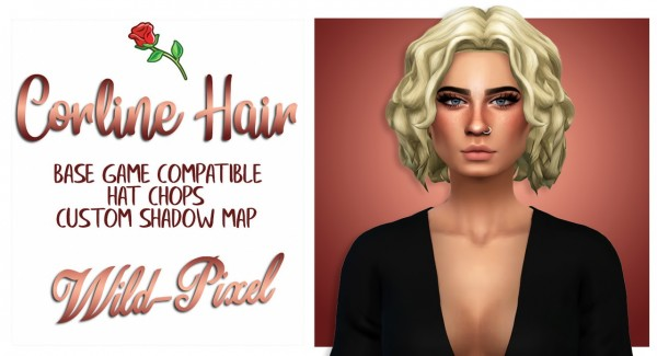 In My Dreams: Caroline Hair for Sims 4