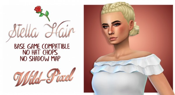 In My Dreams: Corline Hair for Sims 4