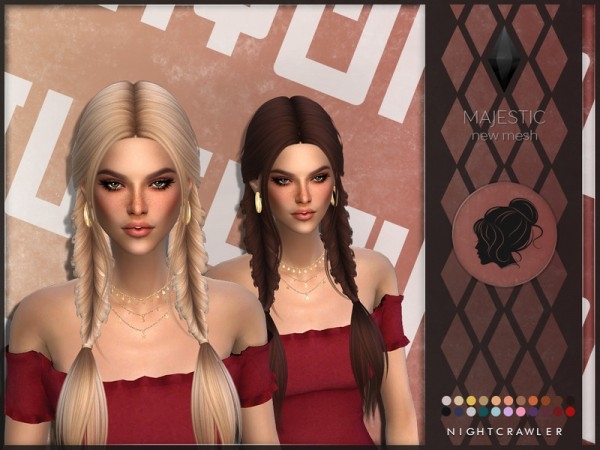 The Sims Resource: Majestic Hair by Nightcrawler Sims for Sims 4