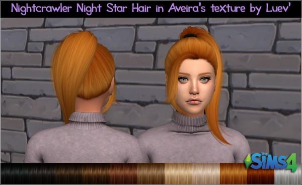 Mertiuza: Nightcrawler`s Night Star hair retextured for Sims 4