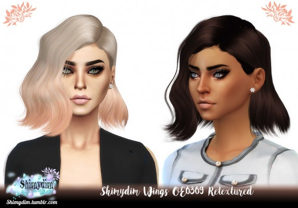 Shimydim: Wings OE0309 Hair Retextured for Sims 4