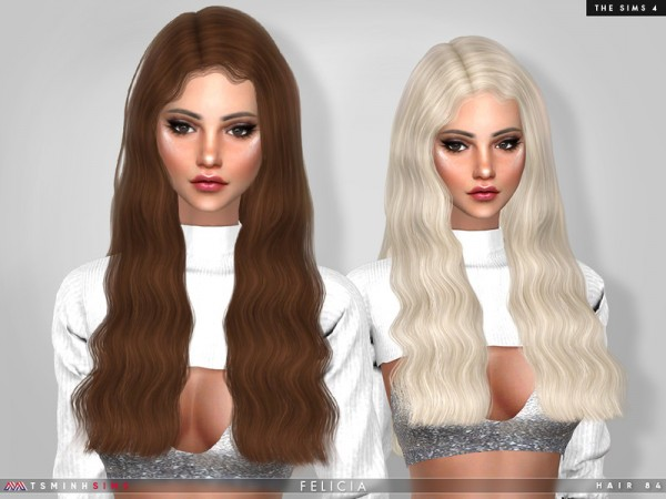 The Sims Resource: Felicia Hair by TsminhSims for Sims 4
