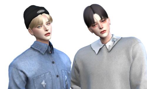 Lemon: Eunwoo Hair for Sims 4