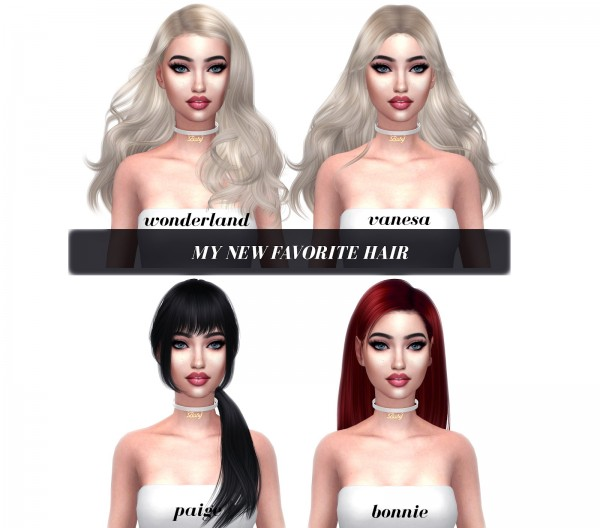 Kenzar Sims: My Favorite Hairs Retextured for Sims 4