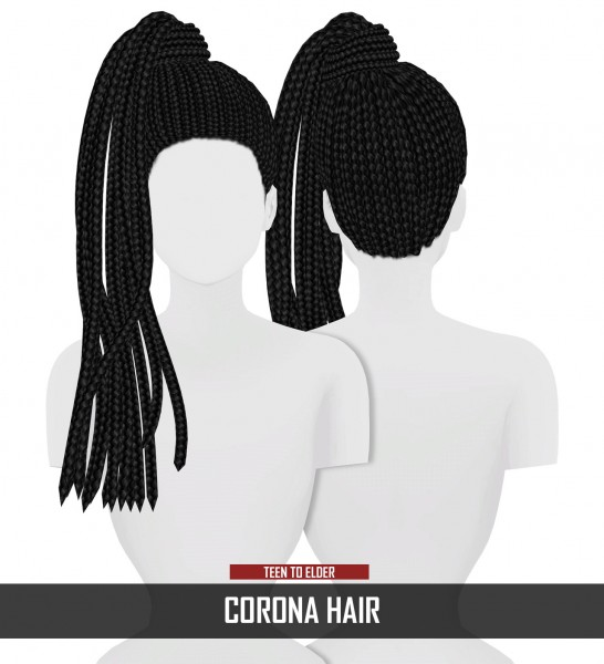 Coupure Electrique: Corona Hair for Sims 4
