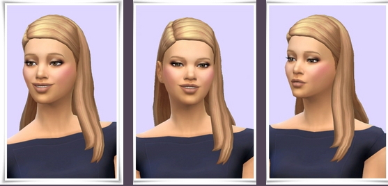 Birksches sims blog: Side Part Straight Hair for Sims 4