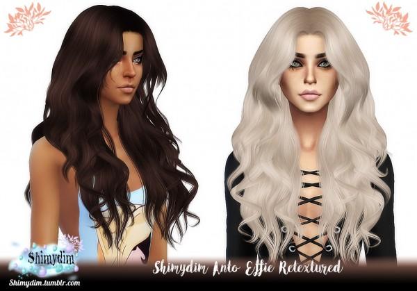 Shimydim: Anto` Effie Hair Retextured for Sims 4