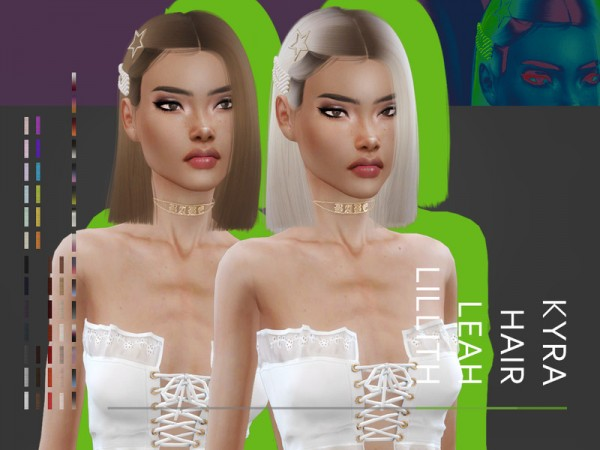 The Sims Resource: Kyra Hair by LeahLillith for Sims 4