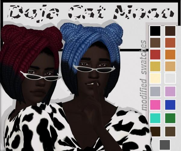 Dbasiasimbr: Doja Cat Moo Hair for Sims 4