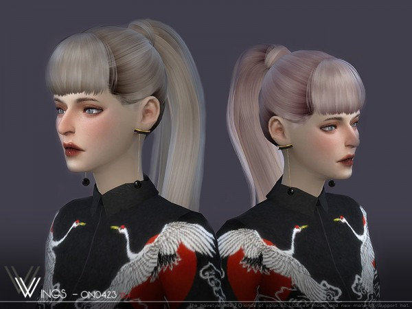 The Sims Resource: WINGS ON0423 hair for Sims 4