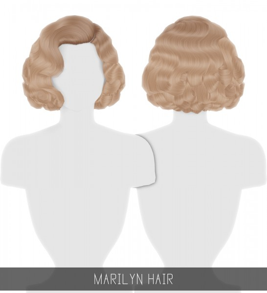 Simpliciaty: Marilyn Hair for Sims 4