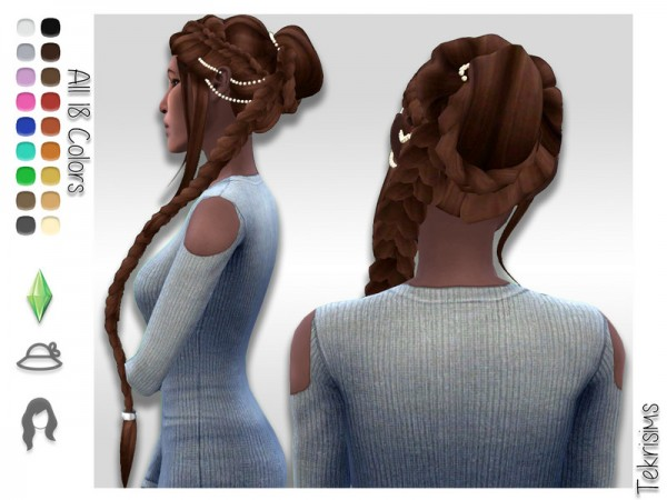 The Sims Resource: Nadia Hair by TekriSims for Sims 4