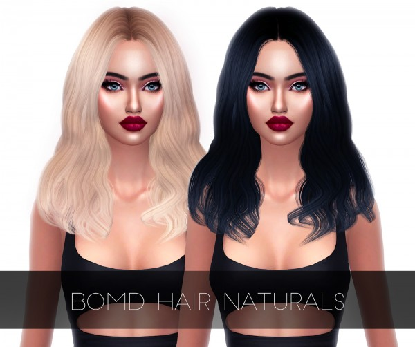 Kenzar Sims: Bomd Hair Naturals retextured for Sims 4