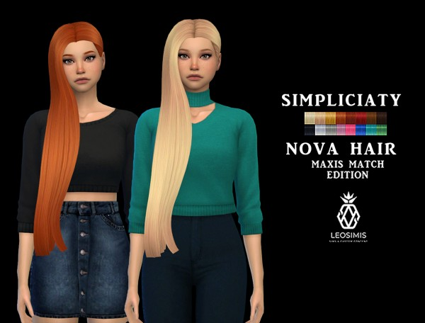 Leo 4 Sims: Nova Hair MM for Sims 4